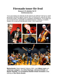 Konsertinbjudan 24 oktober