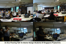 Evorich Flooring Giving A Talk To Singapore Polytechnic's Interior Design Students