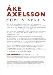 Utställningspresentation: Åke Axelsson - möbelskaparen