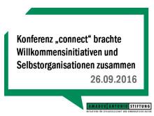 """Die Konferenz """"connect"""" brachte in Berlin Willkommensinitiativen und Selbstorganisationen zusammen"""