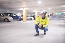 Centralgaraget i Uppsala fick nya slitstarka ytskikt med Weber Avjämning ute