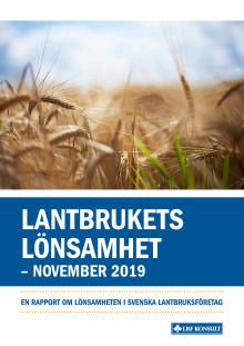 Lantbrukets lönsamhet - november 2019