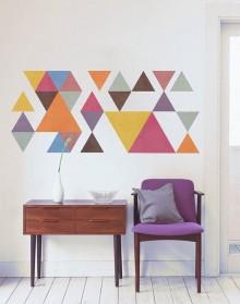Måla ett eget geometriskt mönster på väggen
