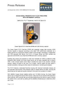 Ocean Signal Presents E101V Float-Free EPIRB