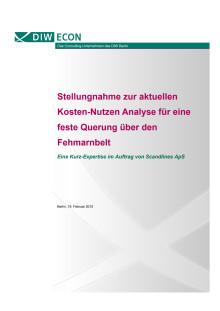 Stellungnahme zur aktuellen Kosten-Nutzen Analyse für eine feste Querung über den Fehmarnbelt