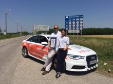 RAC and Audi set new world record by driving to 14 countries on a single tank of fuel