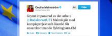 Cecilia Malmström lyfter ungas engagemang för ensamkommande