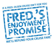 Fred. Olsen Cruise Lines launches 'Fred.'s Enjoyment Promise', the UK's biggest-ever cruise initiative to attract new customers