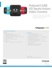 Polaroid Cube, specifikationer
