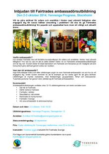 Inbjudan till Fairtrades ambassadörsutbildning