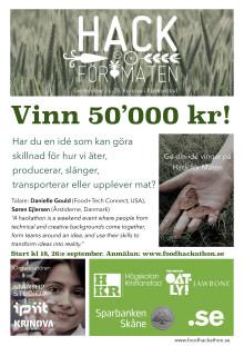 En av landets första food hackathons på Krinova i Kristianstad 26 - 28 september