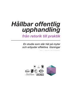 Rapport: Hållbar offentlig upphandling - från retorik till praktik