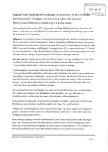 Rapport från medlingen Hamnarbetarförbundet - APM Terminals Gothenburg AB