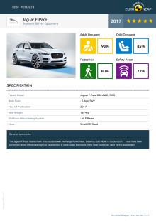 Jaguar F-Pace datasheet - Dec 2017