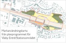 Arbetet med detaljplanen för Väsby Entré går in i en ny fas