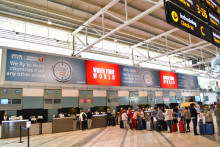 Världens reklamplats på Göteborg Landvetter Airport