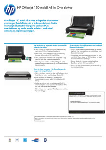 HP Officejet 150 Mobile Dataark