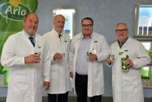 Staatssekretär Andy Becht zu Besuch am Arla Standort in Pronsfeld