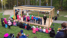 Trädfällardans och ballongsläpp – nu är Mariebergs förskola invigd