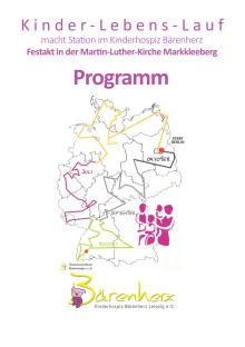 Kinder-Lebens-Lauf macht Station im Kinderhospiz Bärenherz: Festakt in der Martin-Luther-Kirche Markkleeberg (West) am 29. September