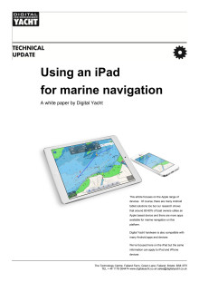iPad Navigation Afloat - A Digital Yacht Whitepaper