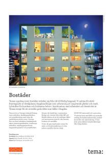 Nybyggnad av bostäder - arkitektur, landskapsarkitektur och stadsbyggnad