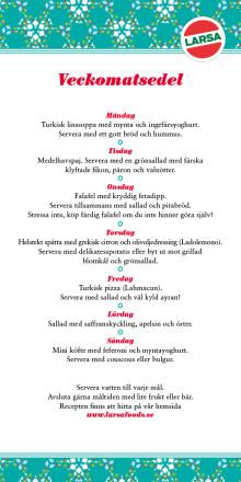 förslag på veckomatsedel