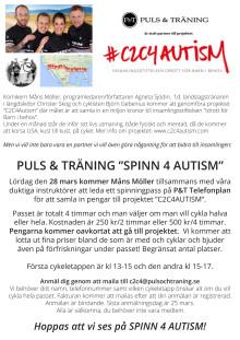 """PULS & TRÄNING """"SPINN 4 AUTISM"""" den 28/3 i Hägersten"""