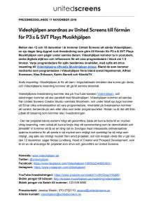Videohjälpen anordnas av United Screens till förmån för P3 och SVT Plays Musikhjälpen