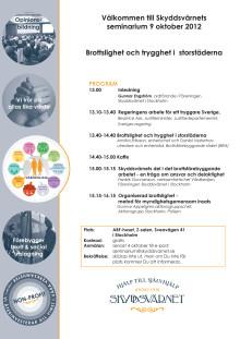 Seminarium 9 oktober 2012