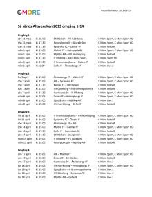 Så sänds Allsvenskan 2013 omgång 1-14