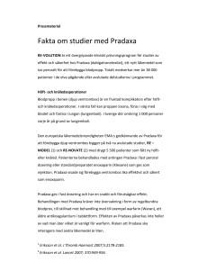 Fakta om studier med Pradaxa