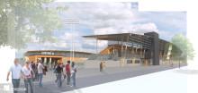 Fotbollsarena i Falkenberg blir Martinsons hittills största i trä