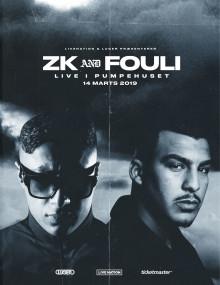 De to rap-kometer, ZK og Fouli, indtager Pumpehuset til en fælles koncert 14. marts.