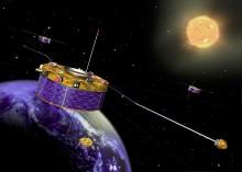 Solvinden tränger igenom jordens magnetfält