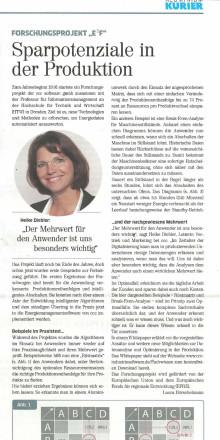 """Pressestimmen: """"Sparpotenziale in der Produktion"""" in Aluminium Kurier"""
