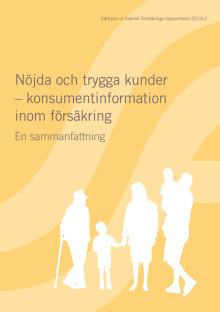 Nöjda och trygga kunder – konsumentinformation inom försäkring