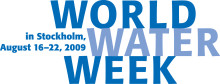 Media Invitation: 2009 World Water Week in Stockholm, August 16-22