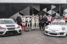 Många superlativ när unga medaljörer testade Porsche 911 och nya STCC-bilen