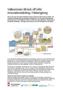 Inbjudan till kick off inför innovationstävling i Helsingborg