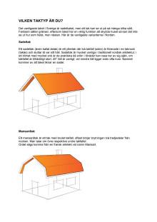 Moniers takskola: Olika typer av tak