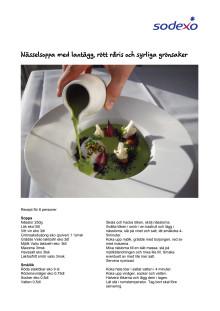 Restaurang e - Nässelsoppa med lantägg, rött råris och syrliga grönsaker
