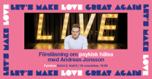 Psykisk hälsa, näthat  och kärlek - Fri föreläsning med Andreas Jonsson
