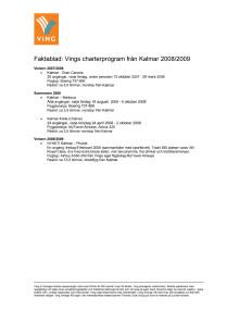 Vings program från Kalmar Airport