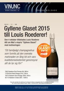 Gyllene Glaset 2015 till Louis Roederer