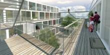 Tillfälliga bostäder byggs i Frihamnen i Göteborg