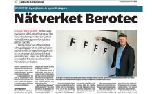 Nätverket Berotec - Ingenjörerna är egna företagare, artikel i NWT 28 januari 2015