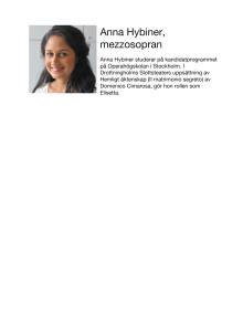 Anna Hybiner, mezzosopran / Mezzo-soprano