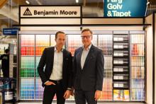Benjamin Moore väljer Fredells Byggvaruhus för sin Sverigelansering