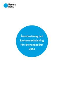 Årsredovisning Resurs Bank 2014